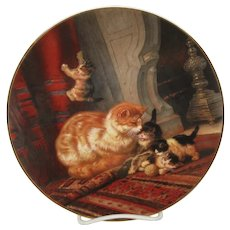 Kittens At Play Plate from 1800s Painting by Ronner