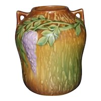 Beautiful Roseville Pottery Wisteria 634-7 Gourd-Shaped Vase Excellent Condition