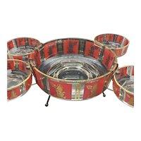 Culver Co. Thai Princess Chip bowl, holders and bowls