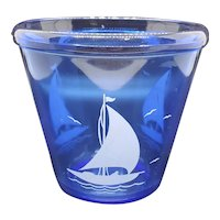 Hazel-Atlas Sailboat ice bucket