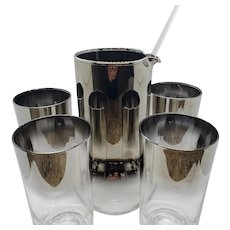 Mercury fade ombre Cocktail pitcher, stirrer and 4 tumblers set