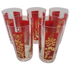 L.E. Smith glass tumblers