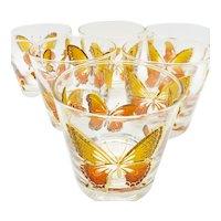 Libbey Butterfly rocks glasses