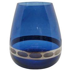 Mid-century Tapered Glass Vase