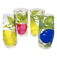 Georges Baird Fruit-motif Cocktail Tumblers