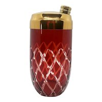 Art-deco style cut-glass Cocktail shaker