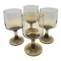Mid-century smoke brown wine glasses