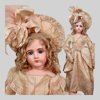 "25"" Gorgeous French Bisque Portrait Jumeau Poupee"