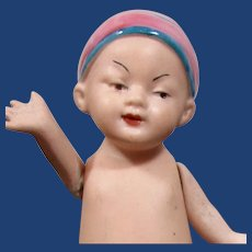 Heubach Chin-Chin All-bisque Asian Child
