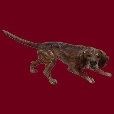 Antique Vienna bronze Pointer dog