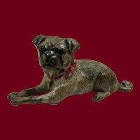 Cold-painted Vienna Bronze Pug dog
