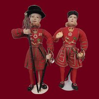 Two English Beefeater Dolls by Ottenberg