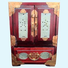 """9"""" Tall Rosewood Cabinet for Asian Dolls"""
