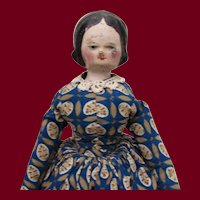 "12"" Grodnertal Wooden Head Doll"