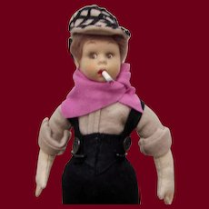 "Italian Felt Miniature Doll ""Jackie Coogan"" by Lenci"