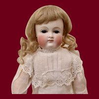 """10"""" Petite German Bisque Child Doll by Kestner with Closed Mouth"""
