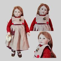 "15 inch Early Roche English Limited Edition Doll ""Beth"", Porcelain and Wood Doll"
