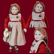 """15 inch Early Roche English Limited Edition Doll """"Beth"""", Porcelain and Wood Doll"""