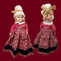"10"" German Regional Costume Papier-Mache Doll"