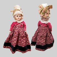 "10"" German Regional Costume Papier-Mache Doll"