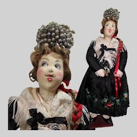 "15"" Ilse Ludecke Doll in a German Black Forest Bride's Costume"