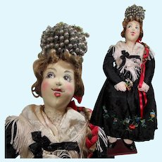 """15"""" Ilse Ludecke Doll in a German Black Forest Bride's Costume"""