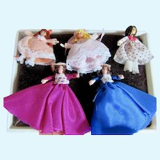 Five Tiny Miniature Dolls