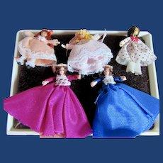 Five Tiny Unusual Miniature Dolls