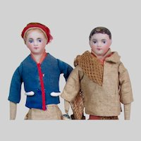 "10"" French Fisherman & Fisherwoman Pair"