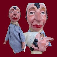 German Paper-mache Puppet with Great Characterization