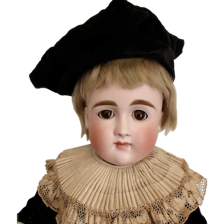 """18"""" German Bisque Closed Mouth Kestner Xi, Early Body"""