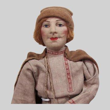 """Russian Cloth Doll: 16"""" Village Boy"""