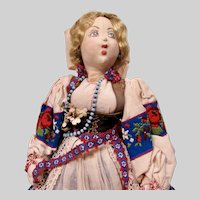 15 inch Ilse Ludecke Cloth Doll representing Slovakia