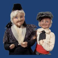 Pair of French Character Dolls by Bernard Ravca