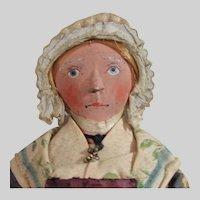 """10"""" Antique Cloth Lady Doll"""