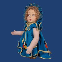 """16"""" Early Italian Felt Character Doll by Lenci with Metal Button Tag"""