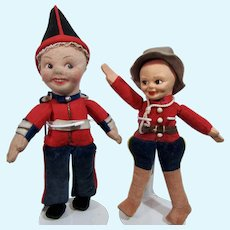 Norah Wellings Dolls: Canadian Mounty and British Guard