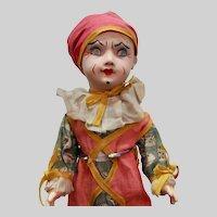 """14"""" French papier-mache Jester/Clown by SFBJ"""