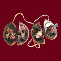Walnut Shell with Miniature Scenes