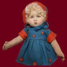 "Italian Felt Lenci-type Doll. 12""."