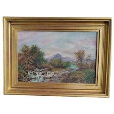 Hudson River School Oil Painting,  signed L Barron