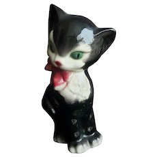 Royal Copley Tuxedo Cat Ceramic Figurine