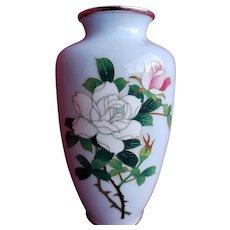 Japanese Mid Century Cloisonne Vase,  Robin's Egg Blue