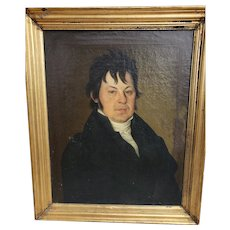1823 Oil Painting: Portrait Handsome young Gentleman, Germanic, Original condition!