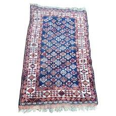 Fine Antique Caucasian Rug, Oriental Carpet, Snowflake