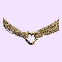 18k Tiffany's Multi Chain & Heart Necklace by Elsa Peretti