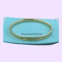 Tiffany's 1837 18k Gold Bangle