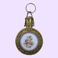 Filigreed Scent Bottle Chatelaine
