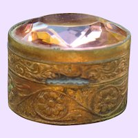 Exquisite Italian Glass Jeweled Pill Box