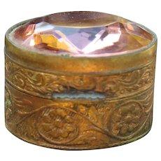 Exquisite Italian Glass Jeweled Pill Box